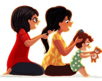 """Family, Nursery wall art, Kids Art, Art for Nursery - """"Generations"""""""