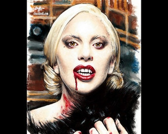 "Print 8x10"" - The Countess - American Horror Story Hotel Nick Pryor Denis O'Hare Evan Peters Lady Gaga Countess Dark Art Horror Mr. March"