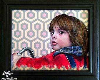 Danny Torrance - Original Drawing - The Shining Jack Nicholson Redrum Murder Horror Dark Art Halloween Stanley Kubrick Serial Killer Carpet
