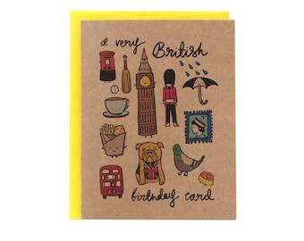 A Very British Birthday Card