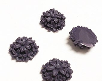 10pc 13mm flower resin cabochon-2915c