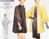 Vogue Vintage Model Sewing Pattern 2338 Misses Swing Coat 1946 Design Uncut