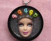 Day of the Dead Barbie doll pendant