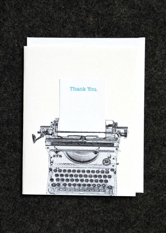 Typewriter Thanks