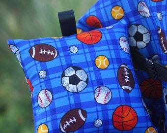 Shopping Cart Cover for Boy or Girls- Boutique Shopping Cart Cover- All over Sports