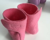 Waldorf doll, pink boots, germandolls 12 inch, handmade felt shoes, for natural dolls, Waldorf doll shoes, steiner dolls