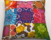 Large Vintage Textile Fabric Cushion.