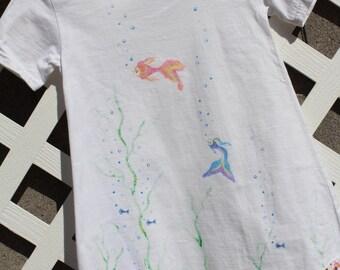 Something's Fishy Dress, short sleeve, girls size 4T