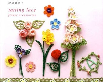 Tatting Lace Flower Accessories  -  Japanese Craft Book
