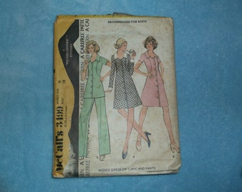 McCalls 3499 Vintage Sewing Pattern Dress, Tunic and Pants