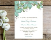 Flower Wedding Invitations - Soft, Charming, Whimsical Wedding Invitations