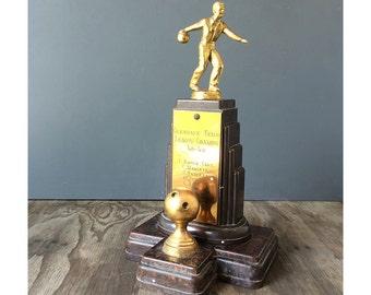 1948 Bowling Trophy - Bakelite Base