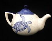 Tea Pot. Dragonfly Tea Pot. Dragonfly. Tea. Pot. Coffee. Hot. Chocolate. Navy. Handmade by Sara Hunter Designs.