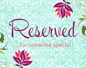 Reserved listing........