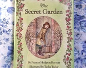 The Secret Garden by Frances Hodgson Burnett, illustrated by Tasha Tudor, Vintage Hardcover Book, 1985