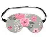 Pink Flower Bloom Sleep Eye Mask, Sleeping Mask, Travel Mask, Eye Mask, Sleep Mask, Travel Gift