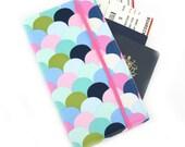 Travel Wallet, passport holder, family travel wallet, travel organizer, passport wallet, document holder - Pastel Scales