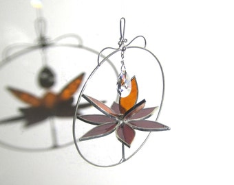 You Pick Any Color - 3D Stained Glass Lotus Spinner - Small Spinning Flower Suncatcher Ornament Home Decor Wire Crystal (MADE TO ORDER)