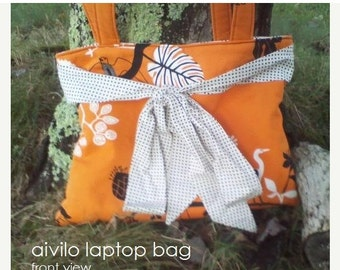 SALE Laptop Bag - PDF Sewing Pattern - customize to any size laptop or netbook - Instant Download