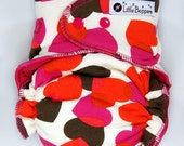 One Size Cloth Diaper AI2 WindPro - OS Wind Pro All in Two - Fall ing Hearts - Heart Camo - Valentine's Cloth Nappies - Love Valentine Heart
