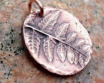 Fern Pendant 10, Botanical Focal Pendant, Gardener Gift, Summer Jewelry, Woodland Pendant, Rustic Forest Folage