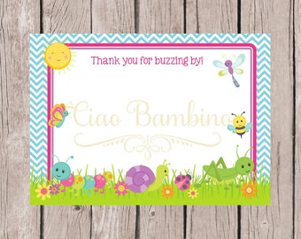 PRINTABLE Cute as a Bug Thank You Cards / Printable 5x7 Thank You Cards with Ladybug, Bumble Bee, Dragonfly / INSTANT DOWNLOAD / You Print