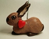 RESERVED for Uofazsara - Custom 4 Inch Bunny Ornament