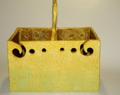 Reserved for Margi.  Double Yarn Bowl or yarn plying box for knitting or spinning