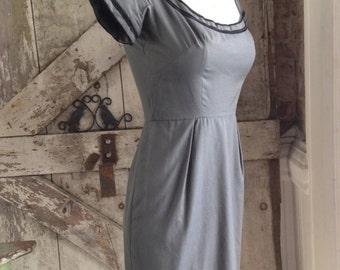 Sale 1950s wiggle dress 50s hourglass dress size x small Vintage dress Maggi Stover mad men dress