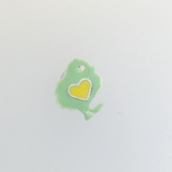 Chicken Lapel pins-mint green chick lapel pin-vegan jewelry-vegan gift-vegan lapel-pins-birthday-unisex-vegan dad-Valentine's Day