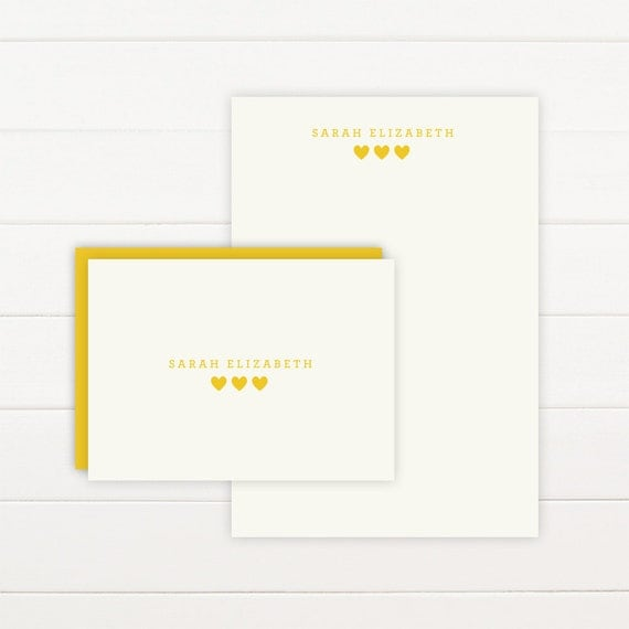 SUGAR Personalized Stationery + Notepad Set, Personalized Notepad and Personalized Stationary