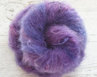 Mohair, Nylon, Wool, Worsted, Hand Dyed Yarn