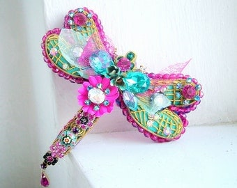 DragonFly  - OOAK Brooch - Ready to ship xx