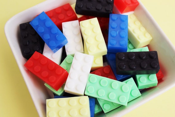 Building Block Soap Set - Kids Soap, Soap Favors, Boys Soap, Watermelon Soap, Novelty Bath, Party Favors, Colorful Soaps, Lego Soap, Gift