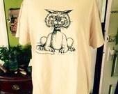Vintage 1970's Grumpy cat unisex t shirt. size L