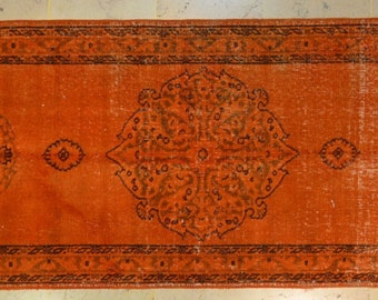 Orange Rug Runner Etsy