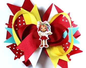 Boutique Cute Girl Inspired  Hair Bow Clip