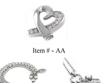 Charm Cremation Urn - Charm Urn - Heart Urn - Bracelet Urn - Charm Urn For Necklace or Bracelet