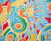 Lilly Pulitzer ~ Beach Weight~ Cotton Twill fabric ~ SHAKE Your TAIL FEATHERS~ Peacock