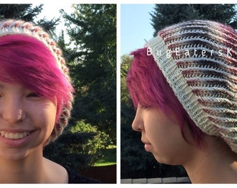 Slouchy Hat in Natural Berry