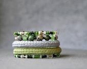 coil bracelet - wrap bracelet - modern crochet jewelry