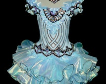 Ice Blue National Glitz Pageant Dress size girls 7-8 New ..Pageants..formal wear.. Christmas wear...