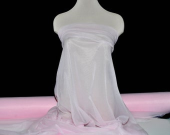 """Bridal Pink Tricot Nylon Knit.. 108 """" wide..sheer, lightweight, soft, home decor, baby decor, tutu's , crafts, canopies"""