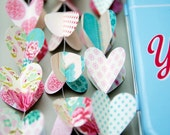 Retro wedding, retro decorations, 50s wedding, teal garland, teal wedding, pink wedding, Valentines day decorations