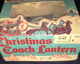 Vintage Christmas Coach Lantern