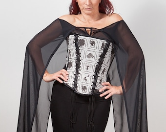 Game of Thrones inspired Chiffon Cape Top, Custom Size
