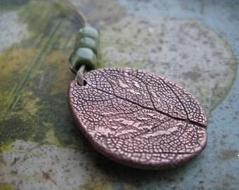 Electroformed Garden Sage by Ellen Dooley Lampwork Copper Component SRA