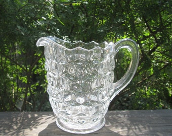 Small Fostoria American Pitcher - Crystal Glass Pitcher