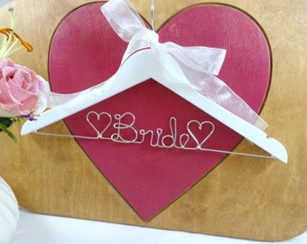 Bride Hanger Wire Hangers Wedding Dress Hangers Bridal Accessories Bridal Hangers Wedding Photo Props Personalized Hangers