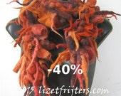 40% off - JANUARY SALE Multicoloured Felted Shibori Scarf  Boa - Fibre Art - Statement Scarf
